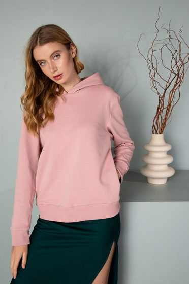 Женское худи розового цвета из хлопка