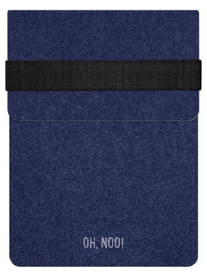 Чехол из фетра для iPad и планшетов, синий, вертикальный с крышкой