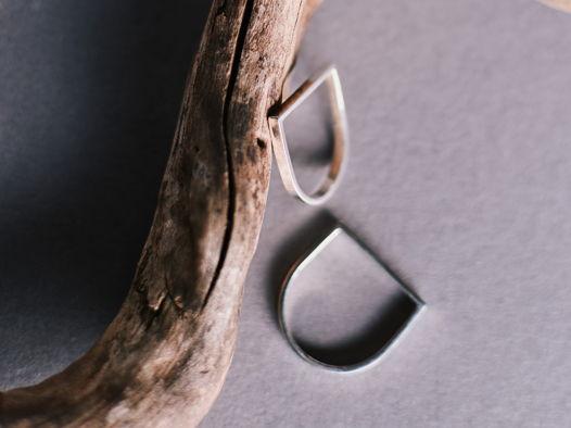 Кольцо ПАРАЛЛЕЛЬ узкое с уголками
