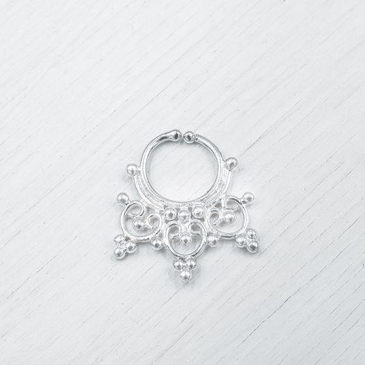 Септум обманка из серебра 012