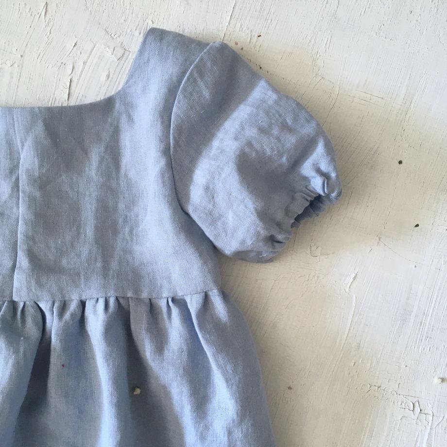 Небесно-голубое платье «Эльза» из умягченгого льна