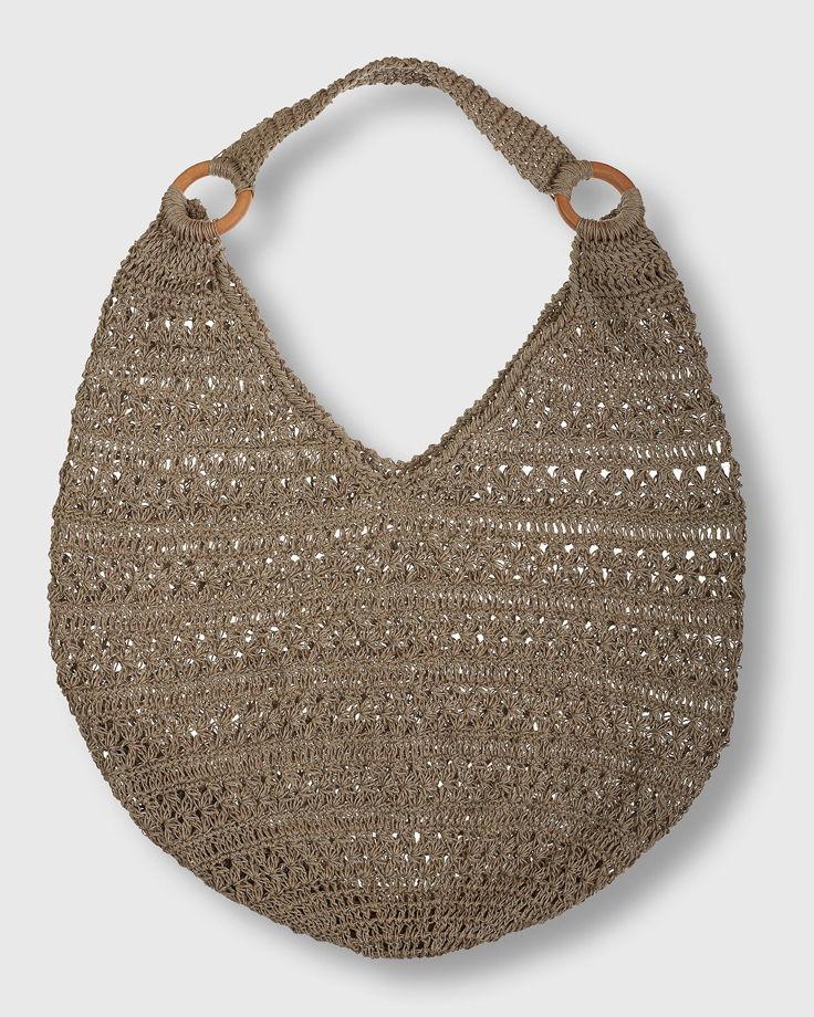 Вязанная сумка авоська бохо