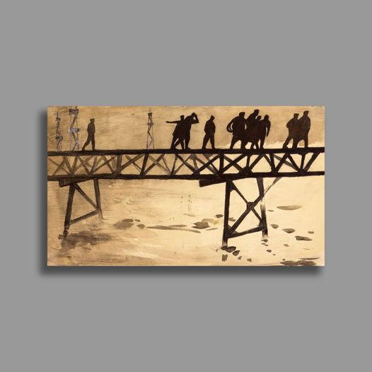"""Мост"" Рисунок  размер 39х23"