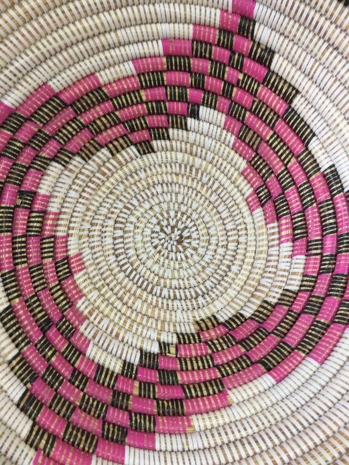 Плетеная тарелка «Луга» L