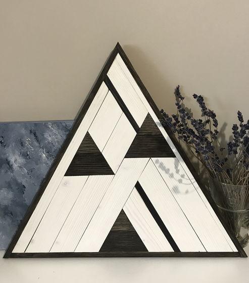 Деревянное панно The Mountain/white