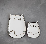 Невероятно милый тарелки сделанные с любовью (комплект 4 штуки.)