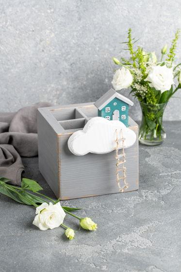 Карандашница Домик в облаках