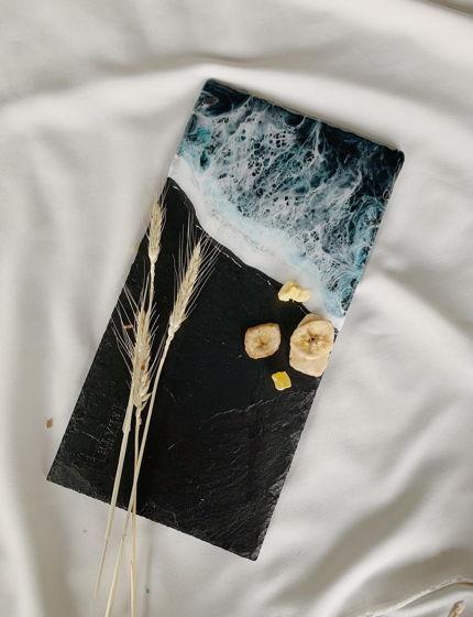 """Сервировочная доска из натурального сланца из серии """" Атлантический океан"""""""