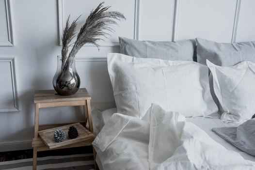 БЕЛЫЙ набор постельного белья изо льна 100%