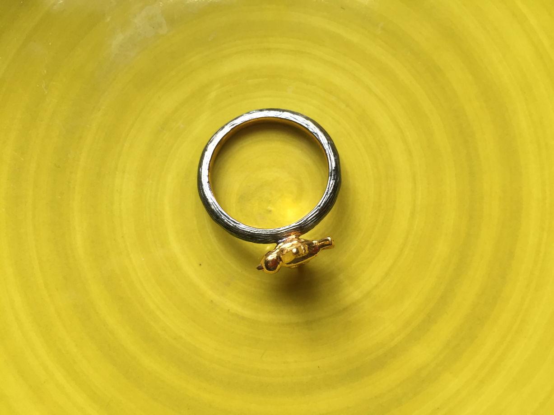 Кольцо Amrapali с птичкой