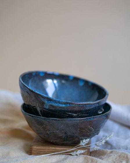 Набор керамических мисочек Midnight blues