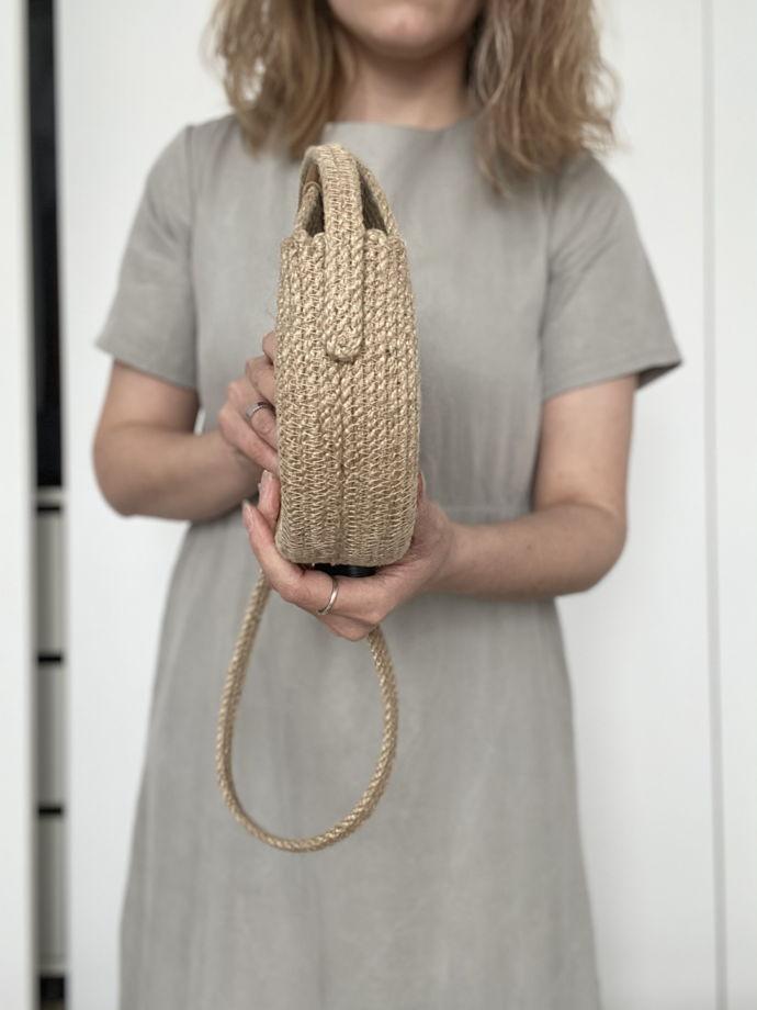 """Джутовая сумка через плечо """"Runda"""""""