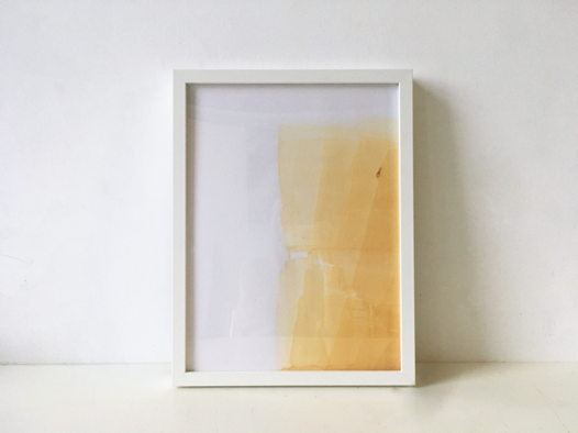 Рисунок ржавой краской №1