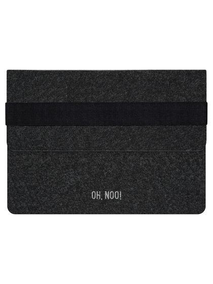 Чехол из фетра для iPad и планшетов, черный, горизонтальный с крышкой