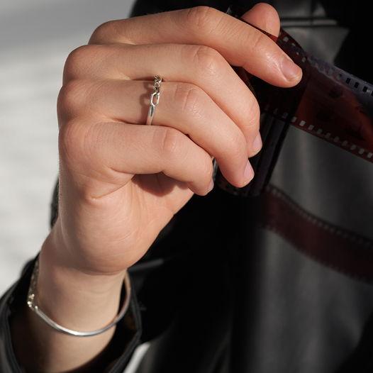 кольцо с цепью Half&Half | Unchained