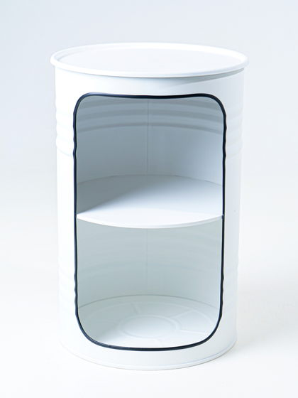 Декоративная бочка-шкаф X white
