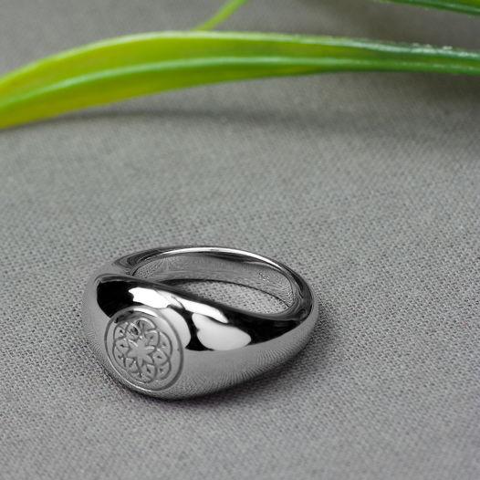 Серебряное кольцо Bulla ornament