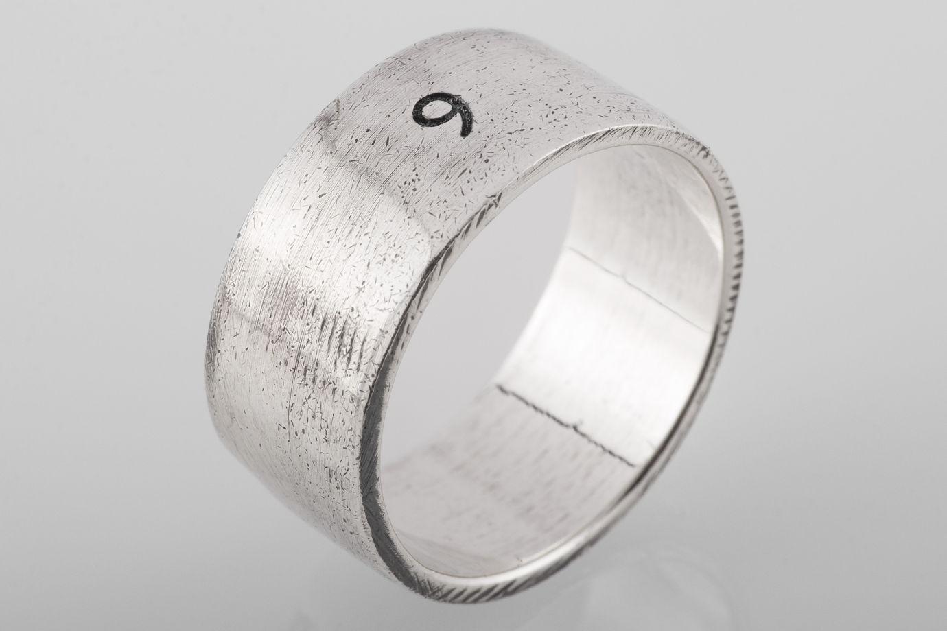 Серебряное кольцо «Девять»