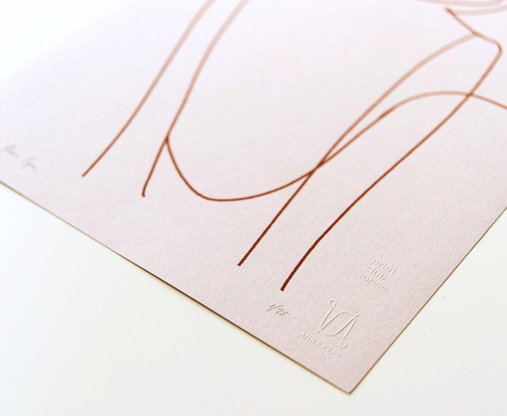 «Силуэт девушки» / Шелкография, тираж 25 экз