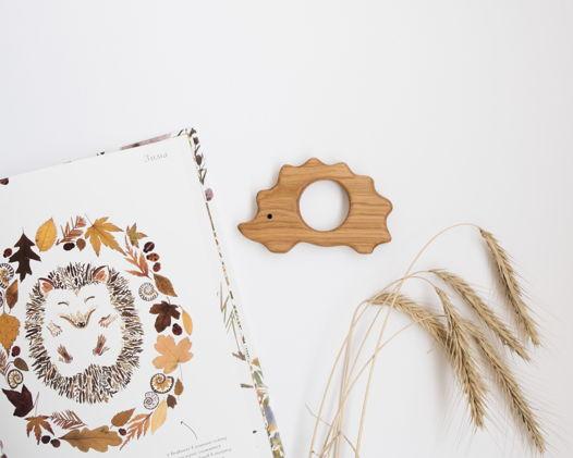 Грызунок деревянный Ежик