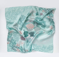 Шелковый платок актинии светлый