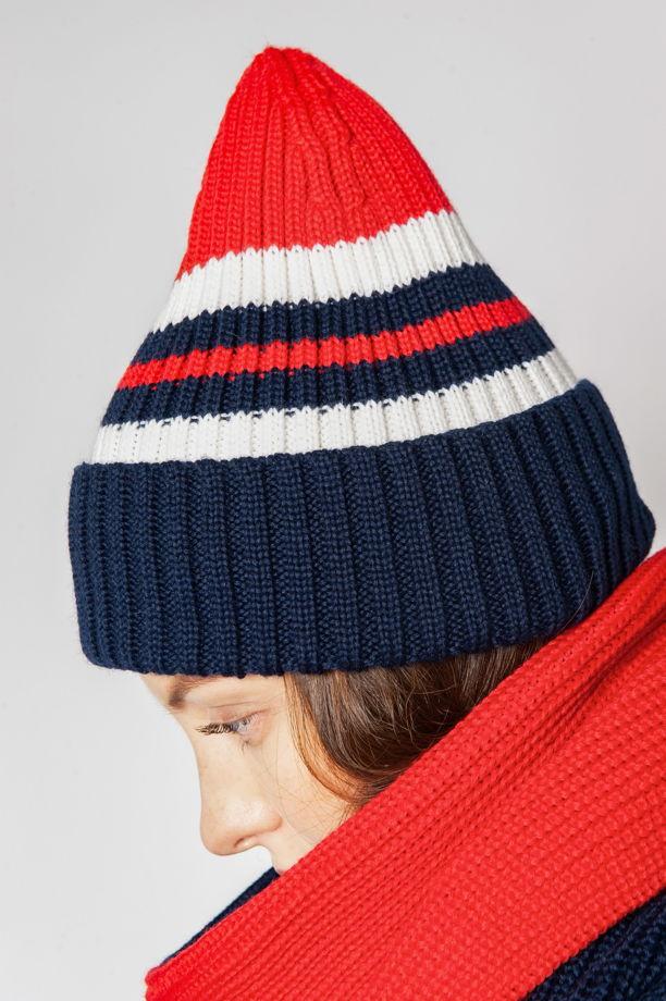 Полосатая шапка с отворотом '8-BIT