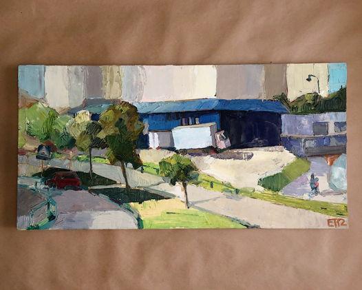 """Картина маслом """"Солнечная улица"""" 2012 г."""