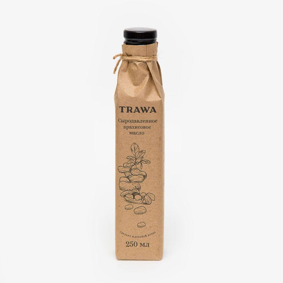 Сыродавленное арахисовое масло TRAWA, 250 мл