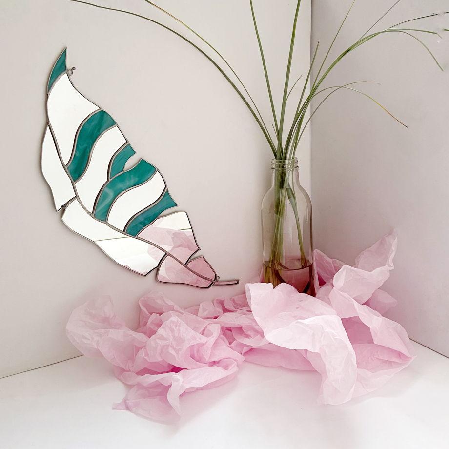 Декоративное зеркало «ЛИСТ»