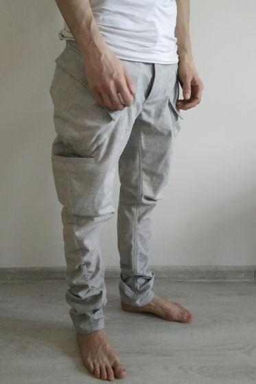 концептуальные  брюки карго j образные