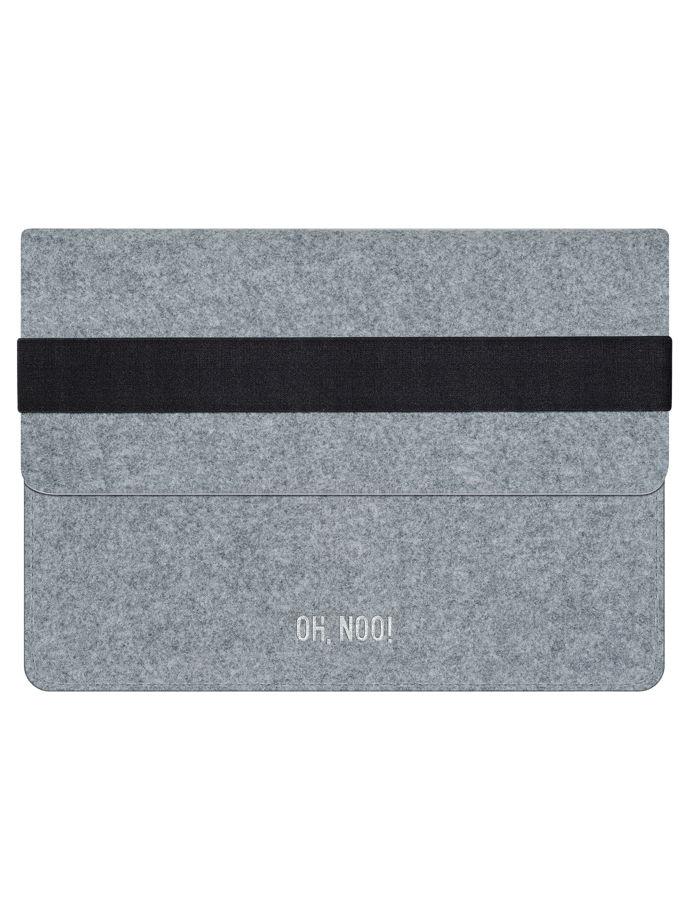 Чехол из фетра для iPad и планшетов, светло-серый, горизонтальный с крышкой