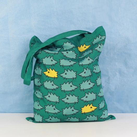 """Арт-авоська FishCard - эко сумка """"Зеленые ёжики"""""""