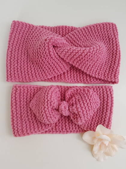 Вязаная повязка на голову женская (в ассортименте)