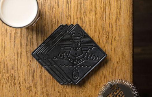 Набор бирдекелей для бара, модель Bitter, 4 шт. в подарочной упаковке