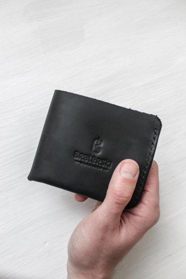 Кожаный бумажник Basic Graphite