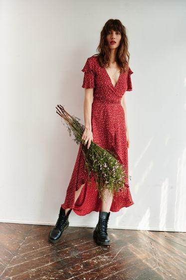 Платье на запах IRIS с открытой спиной и шлейфом