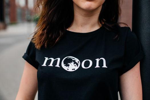 Футболка с принтом moon