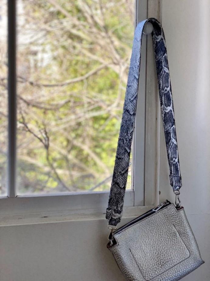 Ремень для сумки «серая змея»