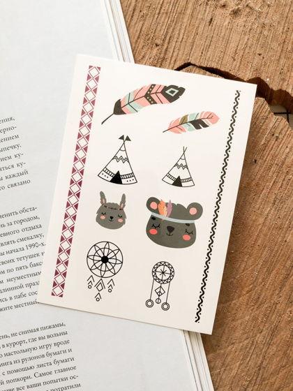 """Временные переводные татуировки MimiToo """"Бохо"""" для детей и взрослых"""