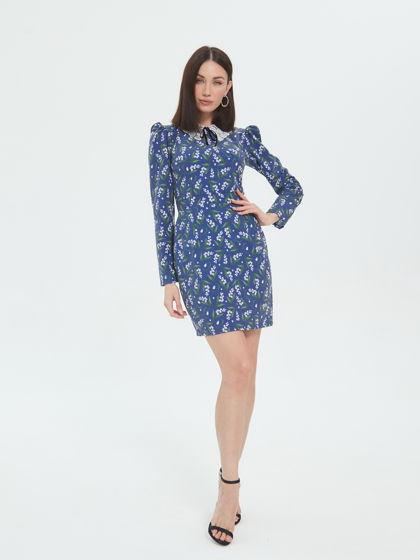 Платье с отложным воротничком