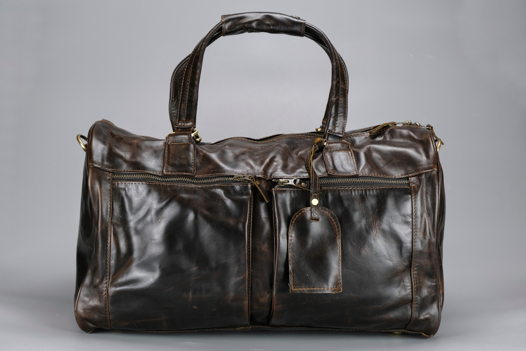 "Тёмно коричневая кожаная сумка ""Around The World"" (Cape Town)"