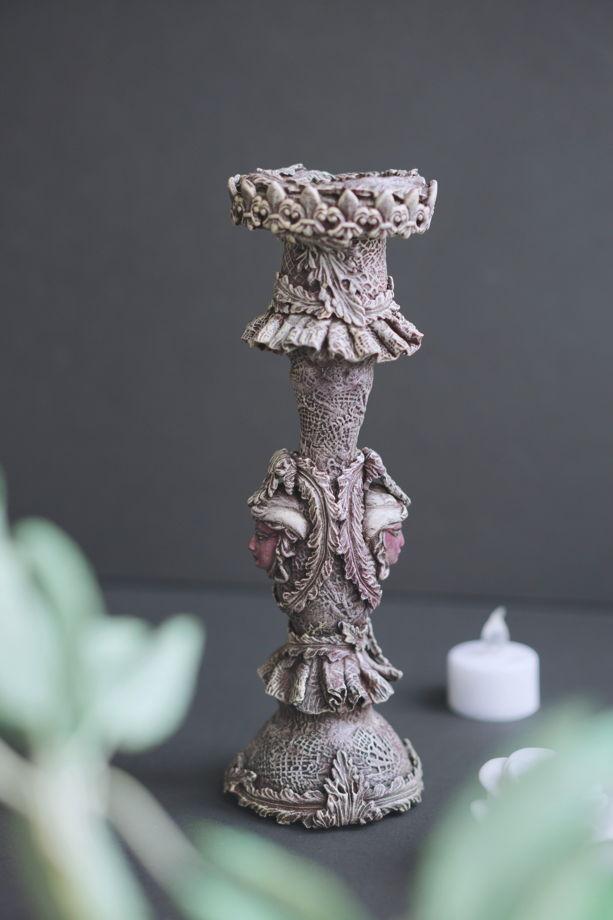 Подсвечник ручной работы из глины