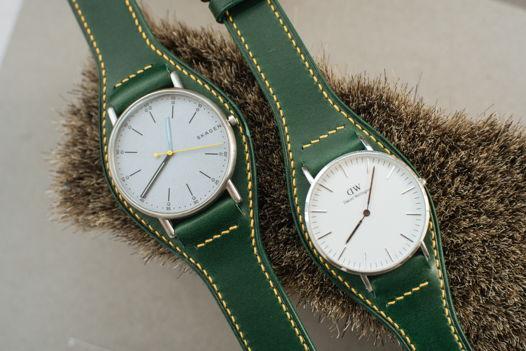 Ремень для часов в стиле Bund ручной работы