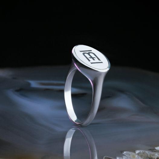 Серебряное кольцо Haze Logo