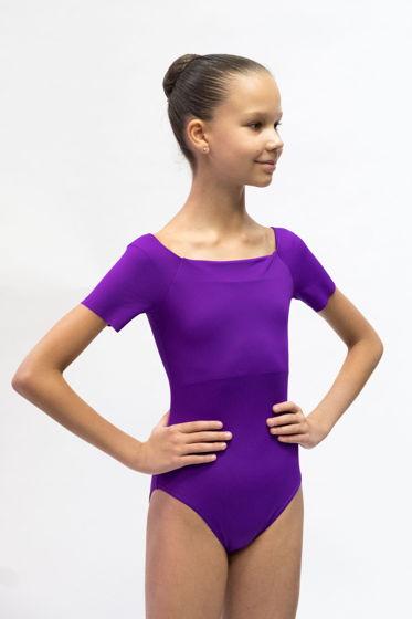 Детский купальник Футболка | фиолетовый для балета