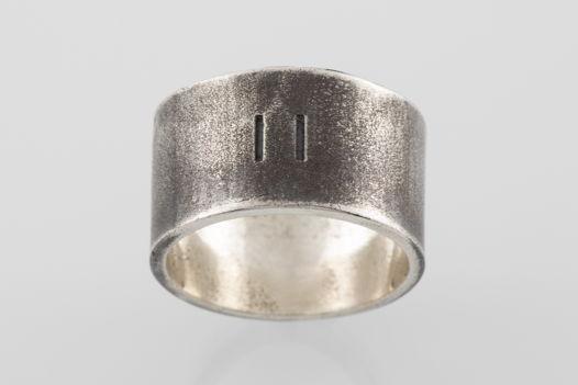 Серебряное кольцо «Одиннадцать»