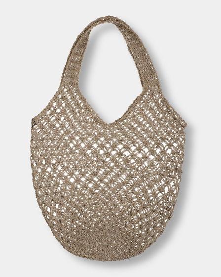 Льняная женская сумка авоська