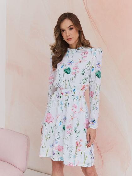 Платье с принтом маки