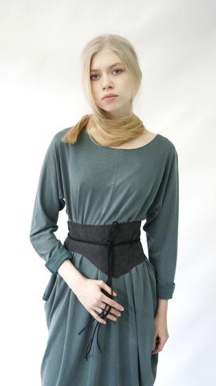 Платье ромб-трансформер   пудровый изумруд