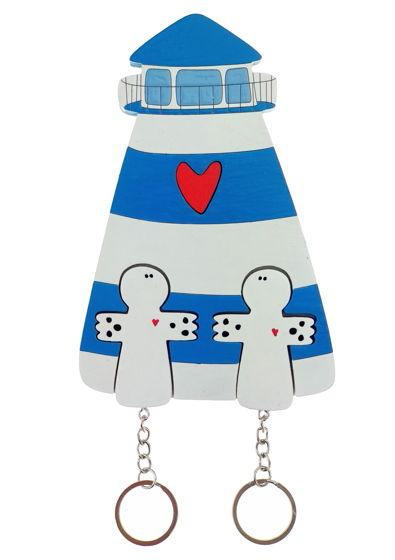 ключница «маяк синий х2»